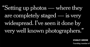 Staging, Manipulation And Truth In Photography - The New York Times