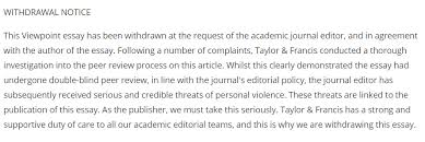 welcome to the new age of academic fascism mob rule the global the essay ldquothe case for colonialism rdquo was drawn at the request of the journal s editor shahid qadir and in agreement the essay s author