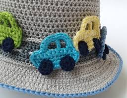 free crochet pattern crochet car applique if you want to embellish any boy outfit this