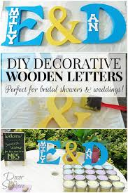 these decorative wooden letters are the perfect decoration for bridal showers and weddings so easy
