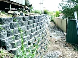 building a cinder block retaining wall without mortar build a concrete block wall block retaining wall