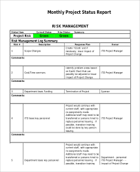 Monthly Report Template Word Status Report Sample Sample Weekly Status Report Template Weekly 50