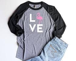 <b>Flamingo Baseball</b> Shirt LOVE Unisex Pink <b>Flamingo</b> Party Shirts ...
