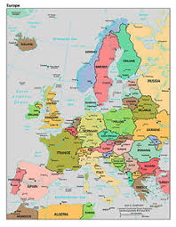 Print Home Work Map Of Europe Poster Print Home Bedroom Study A4 Educational