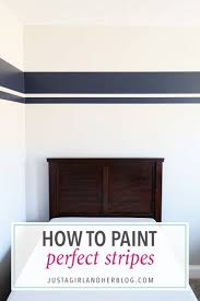 how to paint perfect stripes one room challenge week 3