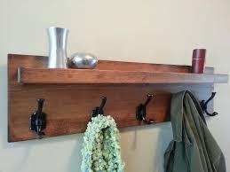 Floating Entryway Shelf Coat Rack Modern Rustic Coat Rack With Floating Shelf 57