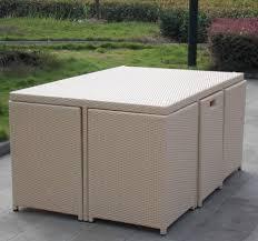 space saving outdoor furniture wicker