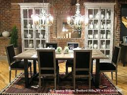 standard height lamp over dining table of chandelier