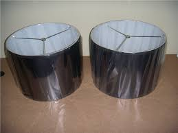 black barrel lamp shade shades awesome drum with gold lining design 14