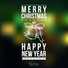 Merry Christmas And Happy New Year Vector Free Vector