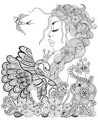 Open them in a pdf program like the adobe. Fairy Coloring Pages For Adults