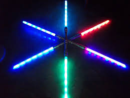 second item you also get with this listing two 52 inch 3 fx function led dual double sided bladed lightsaber light up sword three colors