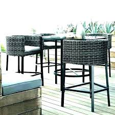 tall table outdoor furniture high top set bistro and chairs