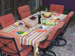 great round patio table cover with umbrella hole treasure garden tablecloths for garden tables