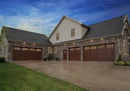faux wood garage doors clopay canyon ridge collection
