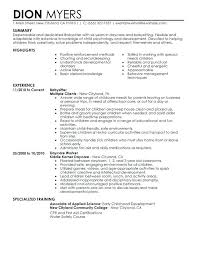 How To Include Nanny On Resume Babysitter Resume Sample Resume Cover