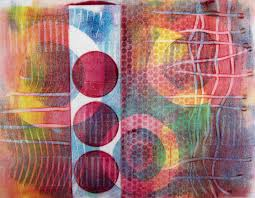 Heat Activated Paint Printing With Gelli Artsar July 2014