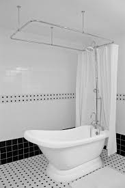 hlslpd57shpk 57 hotel collection single slipper pedestal tub with shower surround plans 5