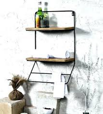 iron wall shelf black iron shelves black iron and wood x x inch bathroom shelf black iron