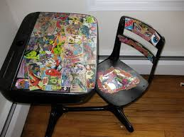 comic book furniture. DC/Marvel School Desk Comic Book Furniture
