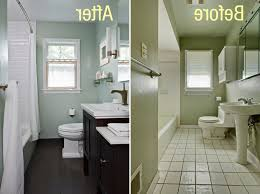 bathroom remodel on a budget pictures. Bathroom Remodel Budget Chrome Faucet Under White Glass Window Small Round Strips Light Mirror Frame Gray On A Pictures C