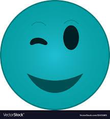 Happy Wink Emoticon Icon Royalty Free Vector Image