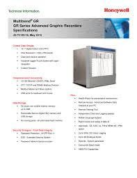 Multitrend Gr Gr Series Advanced Graphic Recorders