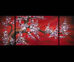 wall art design ideas flower chinese wall art simple multi panel within chinese wall