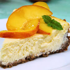 Image result for peach cheesecake