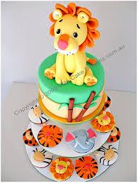 Jungle Zoo Animal Cupcakes Kids Birthday Cupcakes 1st Birthday