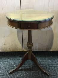 end tables round glass top end table furniture accent with drawer s tables for