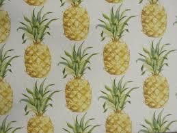 prestigious ananas tropical fruit print pineapple yellow cotton curtain fabric
