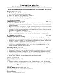 Sample Resume For Experienced Electrical Maintenance Engineer New