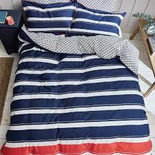 navy blue nautical stripe duvet covers