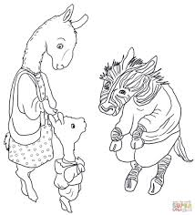 Coloring Pages : Marvelous Llama Coloring Pages Meets The Teacher ...