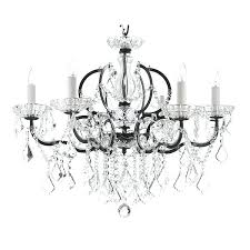 black wrought iron chandelier with crystals gallery baroque 6 light black iron amp crystal chandelier small