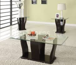 top glass top coffee tables and end tables in minimalist interior home design ideas