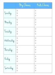 Housekeeping Schedule Template Editable Chores Planner