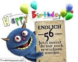 Glückwünsche Zum 56 Geburtstag Lustig Erwachsen