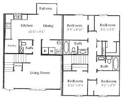 simple floor plans. 4 Bedroom Floor Plans Four House Or By Perfect Simple With Dimensions