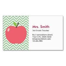 Substitute Teacher Business Card Template Tutor Business