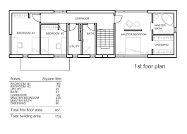 small rectangular house plans simple bedroom story ranch 2 rectangle