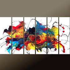 6pc abstract canvas art destiny womack