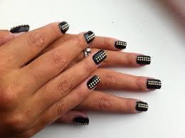 Stud Leather Style - Nail Art