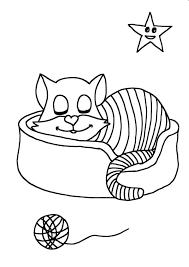 Katte En Kittens Kleurplaten With Een Kat Tekenen Kleurplaat Beste