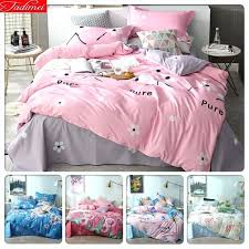 pink bedding sets double and grey set duvet cover 3 kids child soft cotton home