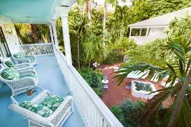 the patio at the gardens hotel in key west florida