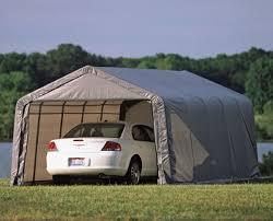 shelterlogic 12 x 20 x 10 peak style portable garage canopy 29