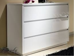 white chest of drawers. View Larger Gallery High Gloss Chest Of Drawers With No Handles White