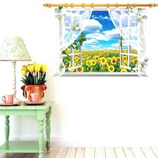 scenic wall decals with scenic wall decals sunflower waterfall wall stickers creative scenic forest landscape wall decal windows scenic window scenic wall